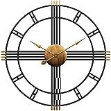 Funtabee - Reloj de Pared de 50 cm, diseño de Esqueleto de Metal, Estilo Retro, Vintage, silencioso, sin tictac, diseño único Elegante, Ideal para Salones, cocinas, Pubs, lofts, cafés, Hierro